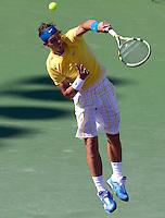 Rafael NADAL (ESP) against David FERRER (ESP) in the fourth round of the men's singles. Rafael Nadal beat David Ferrer 7-6 6-4..International Tennis - 2010 ATP World Tour - Sony Ericsson Open - Crandon Park Tennis Center - Key Biscayne - Miami - Florida - USA - Tue 30th Mar 2010..© Frey - Amn Images, Level 1, Barry House, 20-22 Worple Road, London, SW19 4DH, UK .Tel - +44 20 8947 0100.Fax -+44 20 8947 0117
