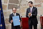 Prince Felipe of Spain presents the award 'Principe de Viana' for the spanish philosopher Daniel Innerarity Grau. June 06,2013. (ALTERPHOTOS/Acero)