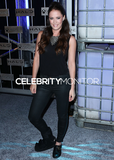 HOLLYWOOD, LOS ANGELES, CA, USA - NOVEMBER 10: Sarah Armstrong arrives at the HaloFest - Halo: The Master Chief Collection Launch Event held at Avalon on November 10, 2014 in Hollywood, Los Angeles, California, United States. (Photo by Xavier Collin/Celebrity Monitor)