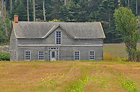 Historic Ferry House, built in 1860 by Winfield Ebey, the 2nd oldest building in Washington State, icon of  Ebey's Landing National Historical Reserve, Coupeville, Whidbey Island, Washington State.