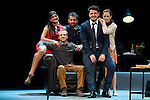 Maia Sur, Fernando Ramallo, the director Paco Montes, Jaime Zatarain and Lidia Navarro during the theater play of Un Dios Salvaje at Nuevo Teatro Apolo in Madrid. March 09, 2016. (ALTERPHOTOS/BorjaB.Hojas)