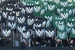 Die Preußen Münster / Muenster Fans präsentieren heute eine Choreographie beim Spiel in der 3. Liga, SC Preußen Muenster - SV Waldhof Mannheim.<br /> <br /> Foto © PIX-Sportfotos *** Foto ist honorarpflichtig! *** Auf Anfrage in hoeherer Qualitaet/Aufloesung. Belegexemplar erbeten. Veroeffentlichung ausschliesslich fuer journalistisch-publizistische Zwecke. For editorial use only. DFL regulations prohibit any use of photographs as image sequences and/or quasi-video.