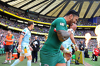 Manu Tuilagi enters the field of play. Aviva Premiership Final, between Leicester Tigers and Northampton Saints on May 25, 2013 at Twickenham Stadium in London, England. Photo by: Patrick Khachfe / Onside Images