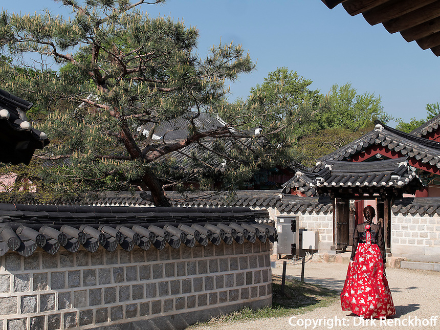 Ahnenschrein der Yi-Dynastie, Jeonju, Provinz Jeollabuk-do, S&uuml;dkorea, Asien<br /> ancestral shrine of Yi-Dynasty  in Jeonju, province Jeollabuk-do, South Korea, Asia