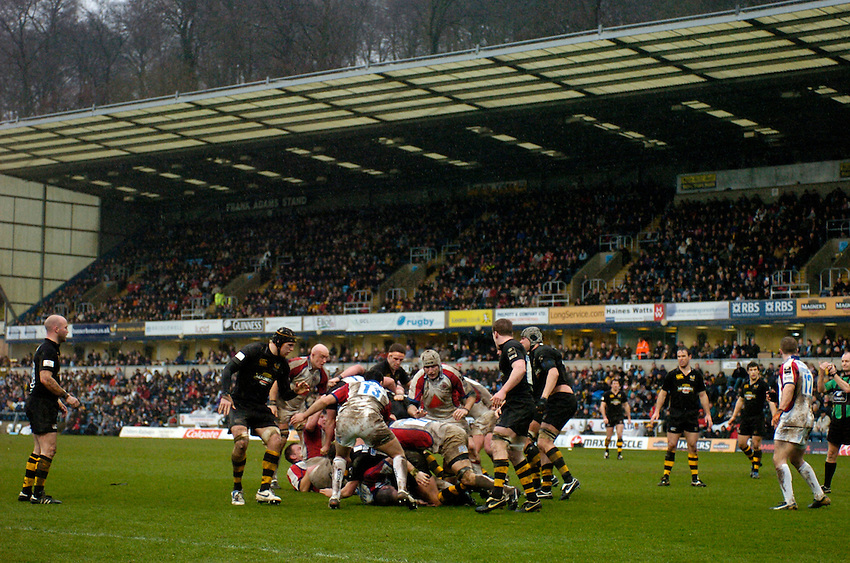 Photo: Richard Lane..London Wasps v Bristol Rugby. Guinness Premiership. 04/03/2007. .Rugby action at Adams Park.