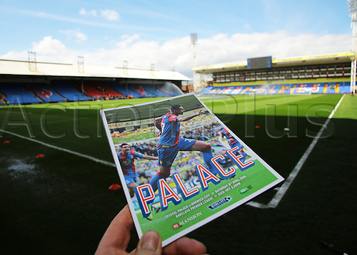 09.04.2016. Selhurst Park, London, England. Barclays Premier League. Crystal Palace versus Norwich. The Matchday Program