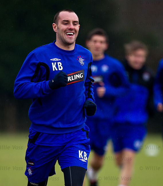 Kris Boyd back at training after hernia operation