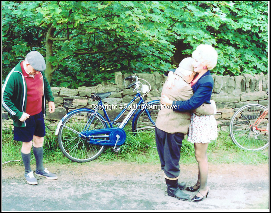 BNPS.co.uk (01202 558833)<br /> Pic: GoldingYoungMawer/BNPS<br /> <br /> ***Please Use Full Byline***<br /> <br /> The bike featuring in Last of the Summer Wine.<br /> <br /> This rusty old bicycle has gone on the market for a whopping 800 pounds - because it was the one ridden by maneater Marina in cult comedy Last of the Summer Wine.<br /> <br /> The busty blonde's jaunts on the blue bike - in which she would escape into the countryside to frolic with married lover Howard - were a recurring part of the legendary series which ran for 37 years.<br /> <br /> Jean Fergusson, who played Marina, was given the bike as a gift by producers in the mid 90s but is now selling it because she had recently moved to London and it doesn't fit in her new home.<br /> <br /> The bike, made by Chinese brand Phoenix, is being sold by Golding, Young and Mawer auctioneers in Lincoln, Lincs.