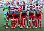 Jun 6, 2015; Portland, OR, USA; The starting eleven for the New England Revolution pose before the game against  the Portland Timbers at Providence Park. Mandatory Credit: Steve Dykes-USA TODAY Sports