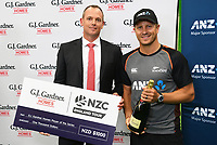 3rd December, Hamilton, New Zealand;  Player of the series Neil Wagner after day 5 of the 2nd test cricket match between New Zealand and England at Seddon Park, Hamilton, New Zealand.