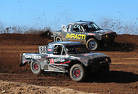 Apr 17, 2011; Surprise, AZ USA; LOORRS driver Austin Kimbrell (88) and Matt Loiodice (20) during round 4 at Speedworld Off Road Park. Mandatory Credit: Mark J. Rebilas-