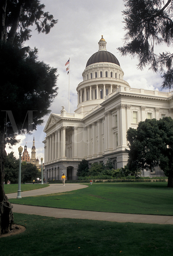 AJ3753, Sacramento, State Capitol, State House, California, State Capitol Building in the capital city of Sacramento in the state of California.