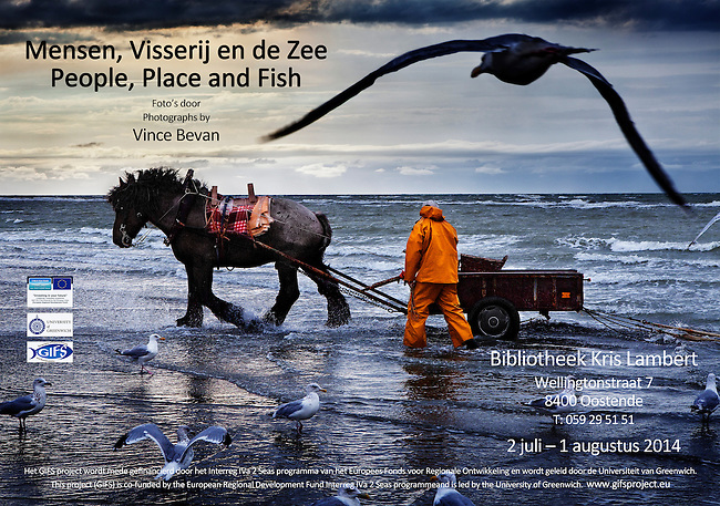 Exhibition poster for 'People, Place and Fish'.<br />