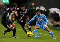durante l'incontro di calcio di Serie A  Napoli Parmi allo  Stadio San Paolo  di Napoli , 23 Novembre 2013<br /> Foto Ciro De Luca