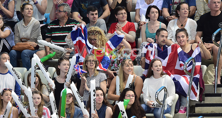 Picture by Alex Broadway/SWpix.com - 22/05/2016 - Swimming - 2016 LEN European Aquatics Championships - London Aquatics Centre, London, England - Fans. Spectators.