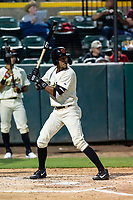 Visalia Rawhide third baseman Yan Sanchez (2) during a California League game against the Rancho Cucamonga Quakes on April 8, 2019 in Visalia, California. Rancho Cucamonga defeated Visalia 4-1. (Zachary Lucy/Four Seam Images)