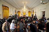 Wide view of United States President Barack Obama's press conference in the East Room of the White House in Washington, D.C. on Thursday, October 6, 2011..Credit: Ron Sachs / CNP