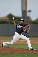 Jaimito Lebron #37 of the AZL Padres pitches against the AZL Diamondbacks at the Peoria Sports Complex on July 7, 2014 in Peoria, Arizona. AZL Padres defeated the AZL Diamondbacks, 9-4. (Larry Goren/Four Seam Images)