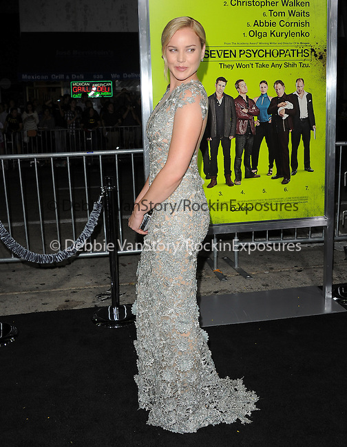 Abbie Cornish at The CBS Films L.A. Premiere of Seven Psychopaths Premiere held at The Bruin Theatre in Westwood, California on October 01,2012                                                                               © 2012 Hollywood Press Agency