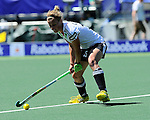 The Hague, Netherlands, June 13: Katharina Otte #13 of Germany passes the ball during the field hockey placement match (Women - Place 7th/8th) between Korea and Germany on June 13, 2014 during the World Cup 2014 at Kyocera Stadium in The Hague, Netherlands. Final score 4-2 (2-0)  (Photo by Dirk Markgraf / www.265-images.com) *** Local caption ***