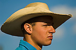 Young cowboy with hat,  Minden Ranch Rodeo at the Douglas County Fairgrounds,