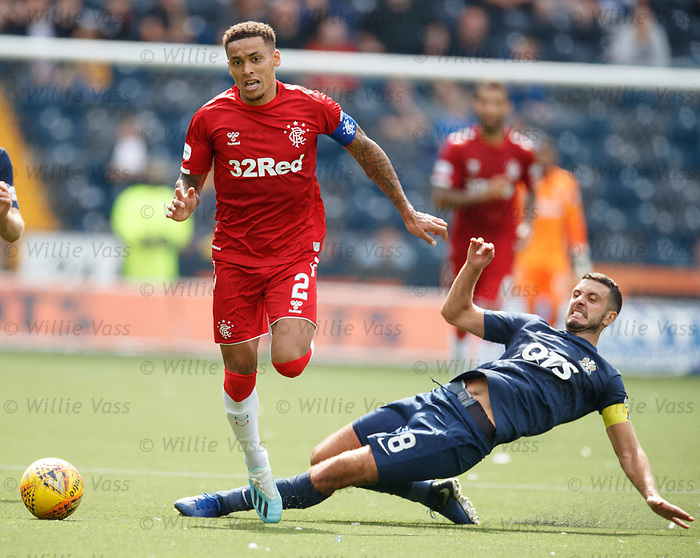 04.08.2019 Kilmarnock v Rangers: James Tavernier and Gary Dicker