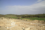 Israel, Shephelah, ruins of a byzantine church in Hurvat Midras