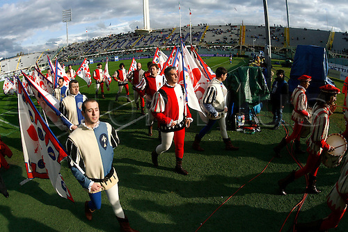 20.11.2010 Florence, International Rugby Union. Italy v Australia,14-32. Picture show Flag players of Florence.