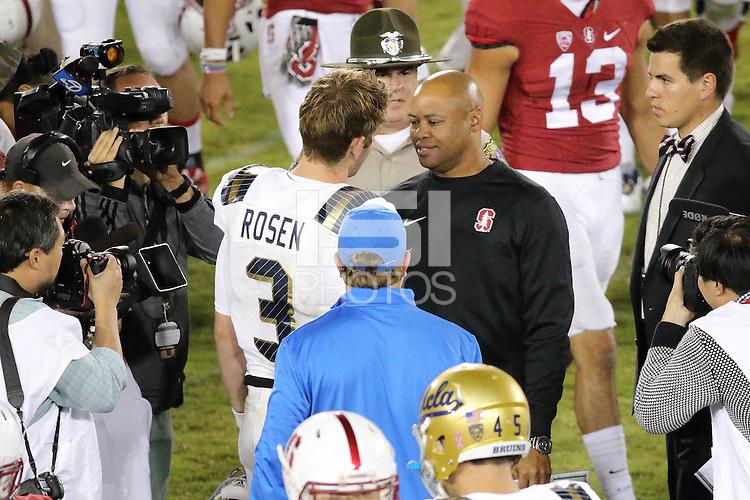 Stanford, CA -- October 15, 2015:  Stanford vs UCLA at Stanford Stadium.   Stanford won 56-35.