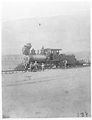 3/4 fireman's-side view of a D&RG 2-8-0 with her crew.