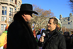 Country Singer Trace Atkins is interviewed by Fox Reporter at the 86th Annual Macy's Thanksgiving Day Parade on November 22, 2012 in New York City, New York. (Photo by Sue Coflin/Max Photos)
