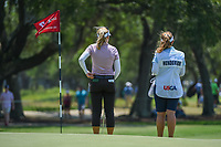 Brooke M. Henderson (CAN) and her sister look over the green on 7 during round 1 of the 2019 US Women's Open, Charleston Country Club, Charleston, South Carolina,  USA. 5/30/2019.<br /> Picture: Golffile | Ken Murray<br /> <br /> All photo usage must carry mandatory copyright credit (© Golffile | Ken Murray)