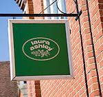 Sign for Laura Ashley shop, Woodbridge, Suffolk, England