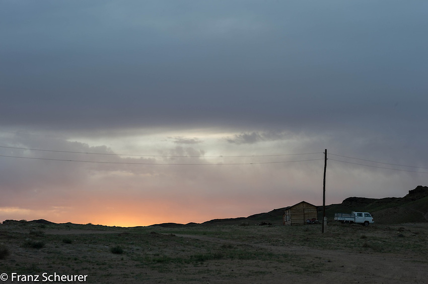 Dawn in Mongolia