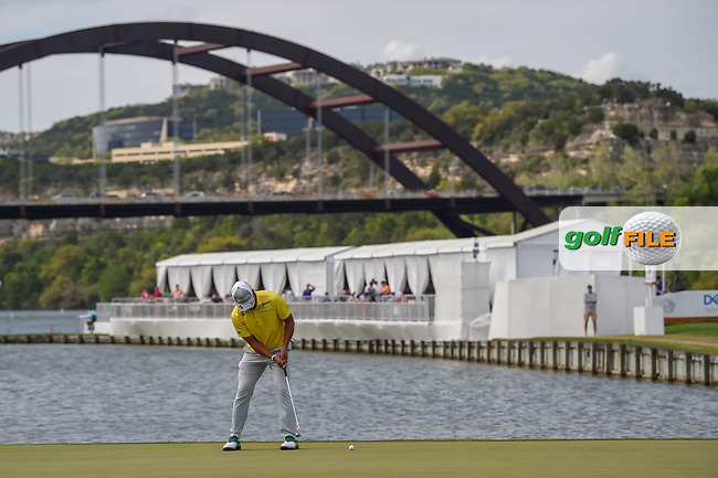 Hideki Matsuyama (JPN) watches his putt on 13 during day 2 of the WGC Dell Match Play, at the Austin Country Club, Austin, Texas, USA. 3/28/2019.<br /> Picture: Golffile   Ken Murray<br /> <br /> <br /> All photo usage must carry mandatory copyright credit (© Golffile   Ken Murray)