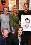 Michael Park, Jennifer Laura Thompson, Rachel Bay Jones, Mike Faist and Ben Platt during the Ben Platt Sardi's Portrait unveiling at Sardi's on May 30, 2017 in New York City.