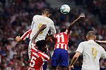 Thomas Lemar of Atletico de Madrid and Raphael Varane of Real Madrid during La Liga match between Atletico de Madrid and Real Madrid at Wanda Metropolitano Stadium in Madrid, Spain. September 28, 2019. (ALTERPHOTOS/A. Perez Meca)