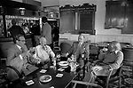 Didsbury Golf Club, near Manchester 1981. Middle England, Middle Class, Middle Age 1980s UK. In the lounge bar group of men sitting around chatting.