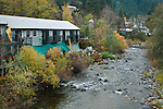 Yuba River running through Downieville, Sierra County, California