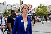 Staten Island, NY - Democratic Gubernatorial candidate Zephyr Teachout the march for Eric Garner