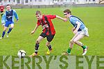 St Brendan's Park's Jessie O'Sullivan and Castlemaine United's Thady O'Sullivan...