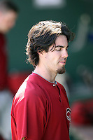 Dan Haren. Arizona Diamondbacks spring training game vs. Chicago Cubs at Hohokam Stadium, Mesa, AZ - 03/05/2010.Photo by:  Bill Mitchell/Four Seam Images.