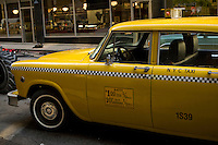 A vintage New-York city taxi is seen on a movie set in Toronto April 19, 2010.