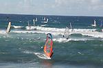 Windsurfers at Ho'okipa Beach