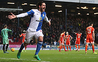 Blackburn Rovers' Danny Graham celebrates scoring his side's second goal <br /> <br /> Photographer Rachel Holborn/CameraSport<br /> <br /> The EFL Sky Bet League One - Blackburn Rovers v Shrewsbury Town - Saturday 13th January 2018 - Ewood Park - Blackburn<br /> <br /> World Copyright &copy; 2018 CameraSport. All rights reserved. 43 Linden Ave. Countesthorpe. Leicester. England. LE8 5PG - Tel: +44 (0) 116 277 4147 - admin@camerasport.com - www.camerasport.com