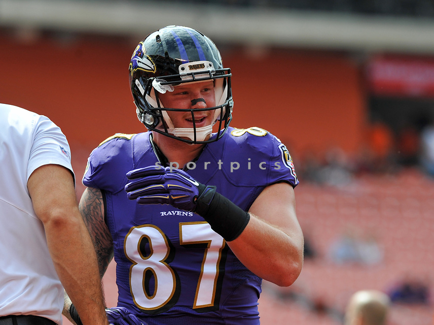 CLEVELAND, OH - JULY 18, 2016: Tight end Maxx Williams #87 of the Baltimore Ravens walks onto the field prior to a game against the Cleveland Browns on July 18, 2016 at FirstEnergy Stadium in Cleveland, Ohio. Baltimore won 25-20. (Photo by: 2017 Nick Cammett/Diamond Images)  *** Local Caption *** Maxx Williams(SPORTPICS)