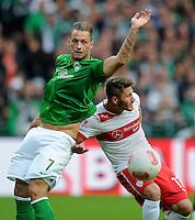 FUSSBALL   1. BUNDESLIGA   SAISON 2012/2013   4. SPIELTAG SV Werder Bremen - VfB Stuttgart                         23.09.2012        Marko Arnautovic (li, SV Werder Bremen) gegen Tunay Torun (re, VfB Stuttgart)