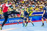 Jannik KOHLBACHER (#80 Rhein-Neckar Loewen) \ beim Spiel in der Handball Bundesliga, SG BBM Bietigheim - Rhein Neckar Loewen.<br /> <br /> Foto &copy; PIX-Sportfotos *** Foto ist honorarpflichtig! *** Auf Anfrage in hoeherer Qualitaet/Aufloesung. Belegexemplar erbeten. Veroeffentlichung ausschliesslich fuer journalistisch-publizistische Zwecke. For editorial use only.