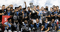 Kansas City, KS - Wednesday September 20, 2017: Matt Besler and Sporting Kansas City 2017 U.S. Open Cup Champions during the 2017 U.S. Open Cup Final Championship game between Sporting Kansas City and the New York Red Bulls at Children's Mercy Park.