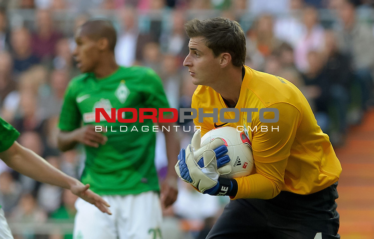 01.09.2012, Weserstadion, Bremen, GER, 1.FBL, Werder Bremen vs Hamburger SV, im Bild Sebastian Mielitz (Bremen #1)<br /> <br /> // during the match Werder Bremen vs Hamburger SV on 2012/09/01, Weserstadion, Bremen, Germany.<br /> Foto &copy; nph / Frisch *** Local Caption ***